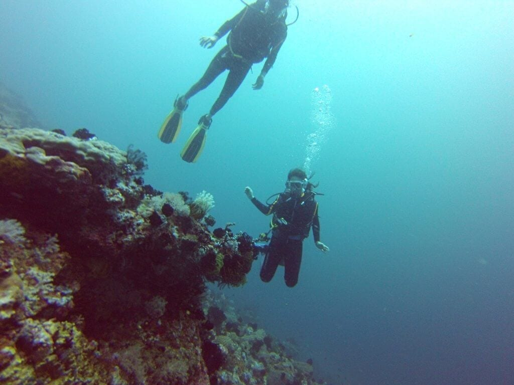 learning to dive on puerto galera