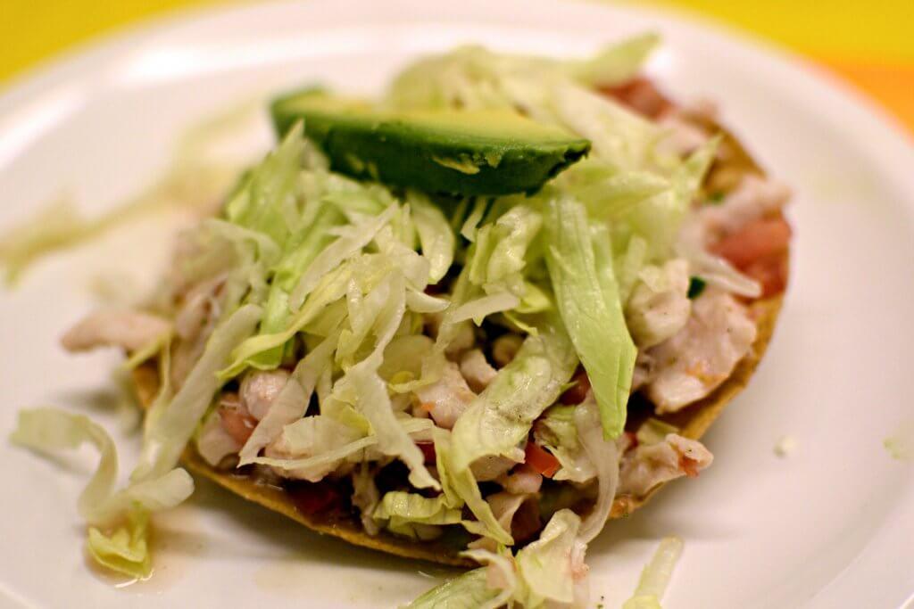 ceviche tostada from mercado coyoacan